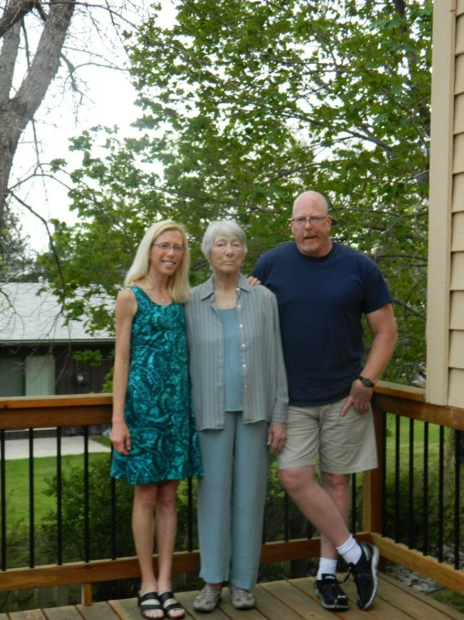 Me, Mom and my brother Fred. Mother's Day 2013
